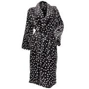 Damella Fleece Printed Dot Robe Antracit polyester Medium Dam