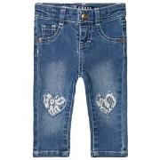 Guess Mid Wash Lace Heart Jeans 3-6 months