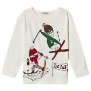Dolce & Gabbana Skiing Långärmad T-shirt Vit 2 years