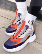 Calvin Klein Jeans – Maya – Sneakers i marinblå färgblandning-Flerfärg...
